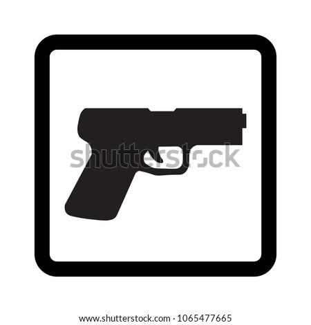 pistol vector icon