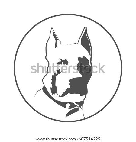pitbull silhouette american