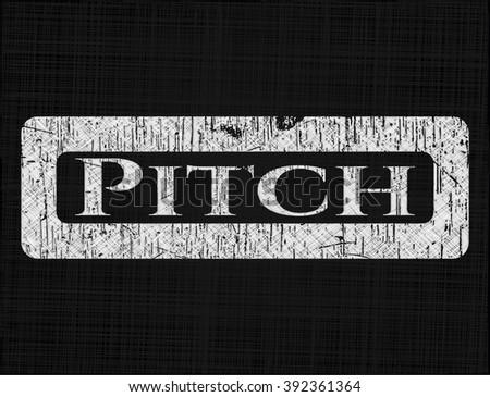 Pitch written on a blackboard