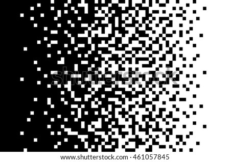 Pixel abstract mosaic background Gradient design Isolated black elements on white background Vector illustration for website, card, poster