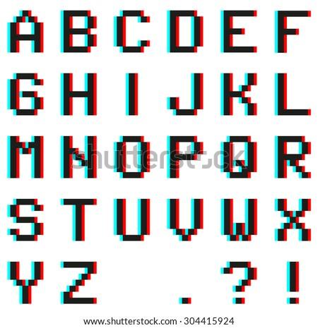 Alphabet Pixel Telecharger Vectoriel Gratuit Clipart