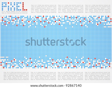 Pixel art. Abstract background. Vector
