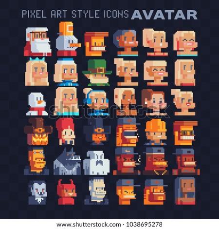 pixel art avatar profile