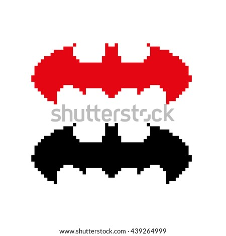 pixel art bat