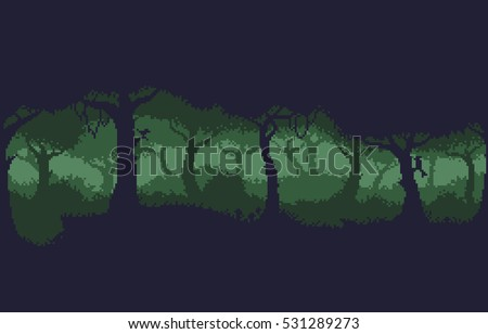 pixel art 8 bit dark green