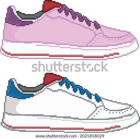 pixel art casual sneakers for