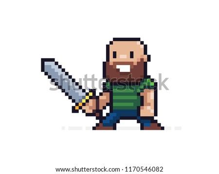 pixel art character 8 bit