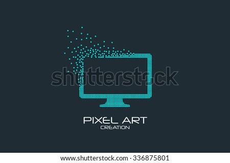 pixel art design of the monitor