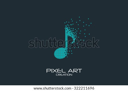 pixel art design of the note