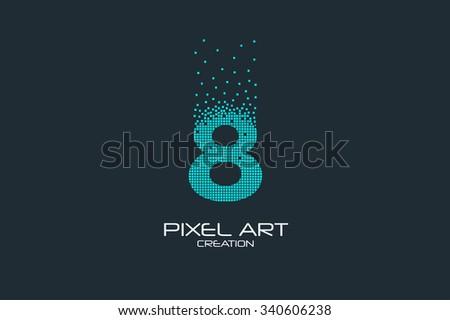 pixel art design of the 8