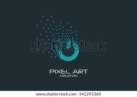 Pixel art design of the on off sign logo.