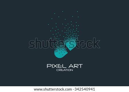 pixel art design of the pill
