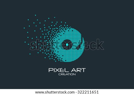 pixel art design of the vinyl