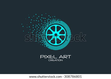 pixel art design of the wheel