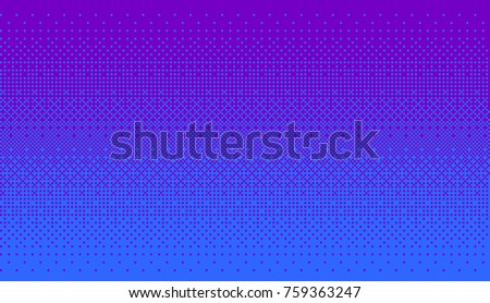 Pixel art dithering background in blue and purple color.