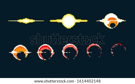 pixel art explosion game icons