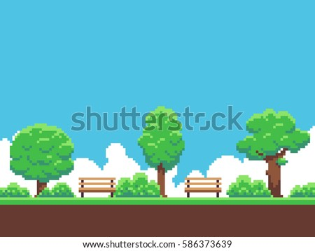 pixel art game background with