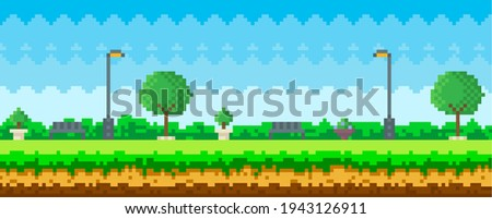pixel art game nature landscape