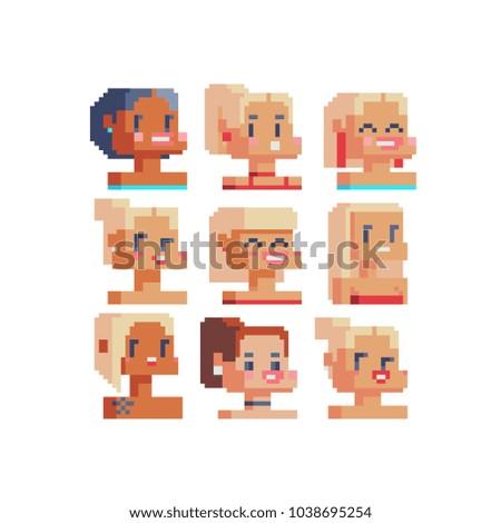 pixel art girl avatar profile