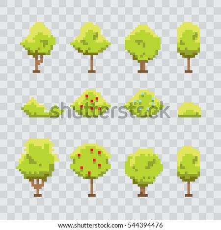 pixel art green summer or