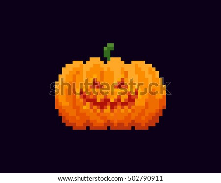 pixel art halloween pumpkin