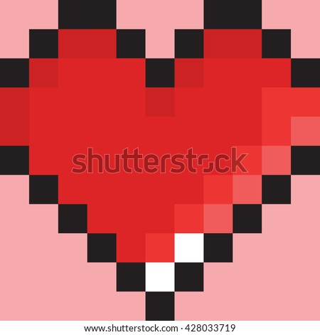 pixel art heart old school