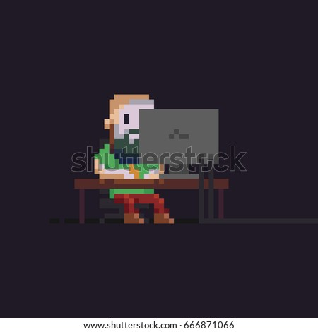 pixel art male character