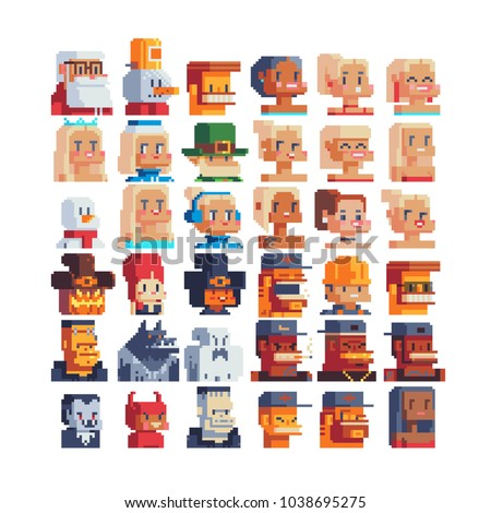 pixel art 80s style avatar