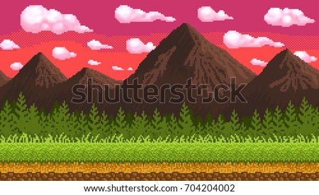 pixel art seamless background