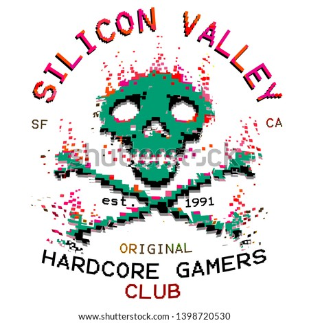pixel art skull and crossbones