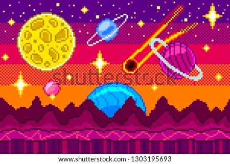 pixel art space seamless
