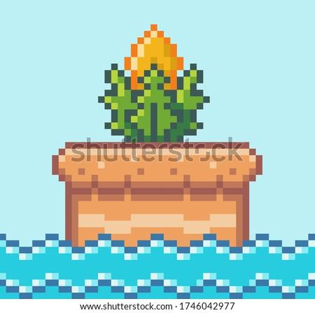 pixel art style  plant object