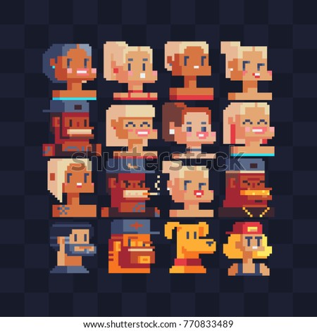 pixel art style video game