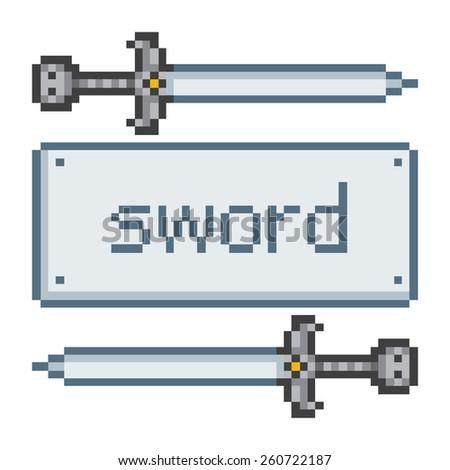 pixel art sword