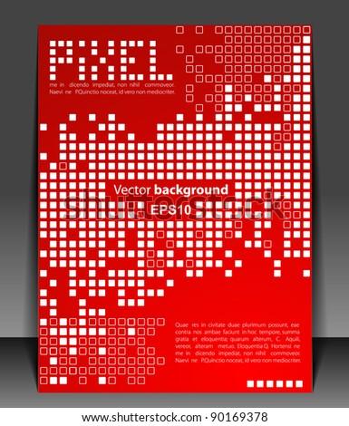 Pixel art. Vector blank.