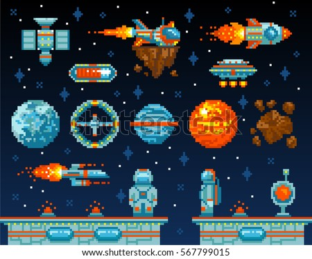 pixel art. vintage game design...
