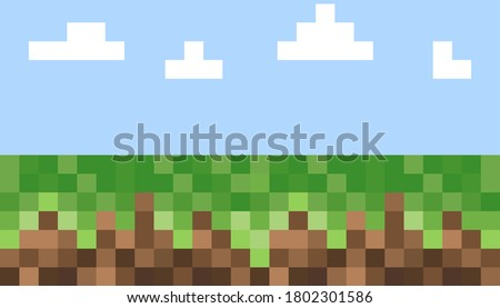 pixel background the concept