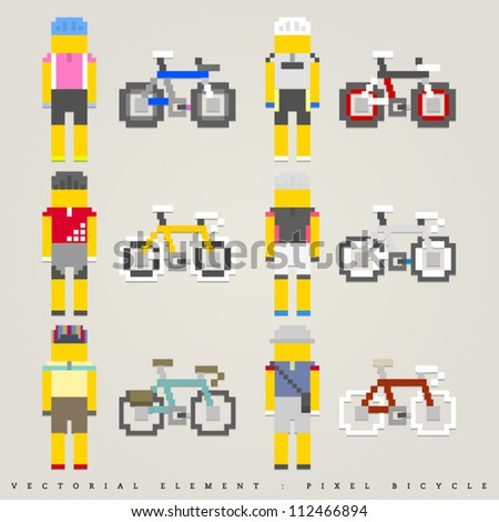 Pixel bicycle illustration