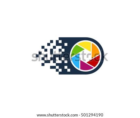 pixel camera photography logo