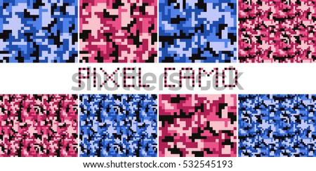 pixel camo seamless pattern big
