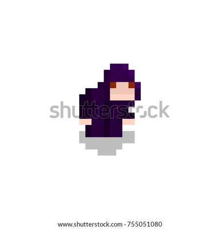pixel character dark mage for