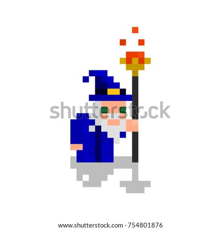 pixel character mage for games