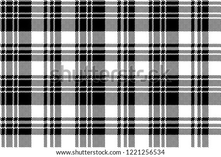 stock-vector-pixel-check-fabric-texture-black-white-seamless-pattern-vector-illustration