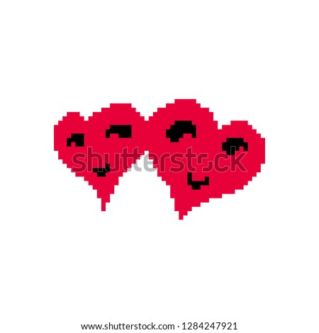 pixel couple heart
