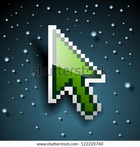 Pixel cursor.