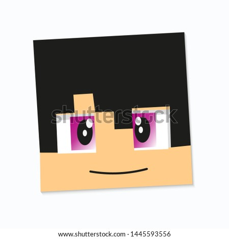 pixel element square head of a