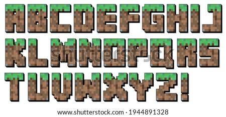 pixel font alphabet letter