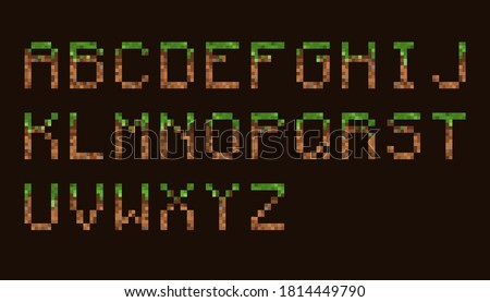 pixel font set game font
