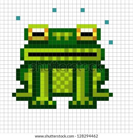 pixel frog