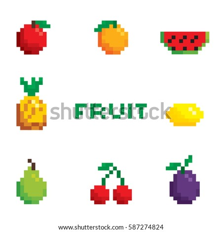 pixel fruit
